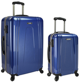 Traveler's Choice U.S. Traveler USB Port EZ-Charge Spinner Luggages (Set of 2)