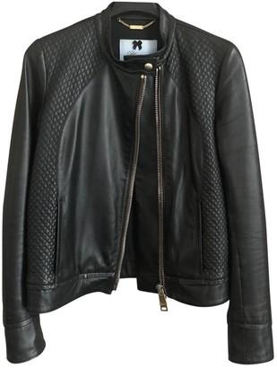 Blumarine Black Leather Leather Jacket for Women