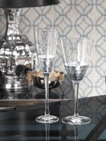 The Well Appointed House Fez Cut Glassware with Silver Leaf Trim-Champagne Flute or Red Wine Glass Available