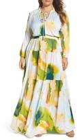 Melissa McCarthy Plus Size Women's Print Tiered Maxi Dress