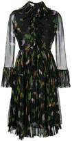 Gucci toucan print ruffle dress