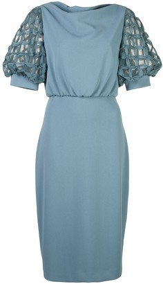 Badgley Mischka blouson short dress