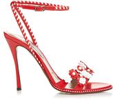 Tabitha Simmons Lynn daisy-embellished leather sandals