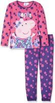 Peppa Pig Girls Bows Multi Spot Premium Long Sleeve Pyjama Set By BestTrend