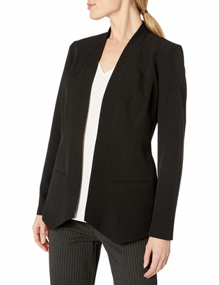Kasper Women's Solid Flyaway Shawl Jacket
