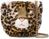 Dolce & Gabbana leopard face crossbody bag