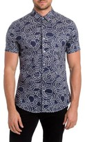 7 Diamonds Men's Clarity Print Woven Shirt