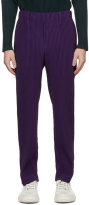Homme Plissé Issey Miyake Purple Tailored Pleats 2 Trousers