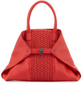 Akris Ai Small Woven Shoulder Bag, Scarlet