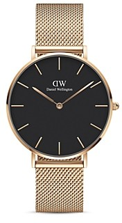 Daniel Wellington Petite Melrose Mesh Bracelet Watch, 36mm