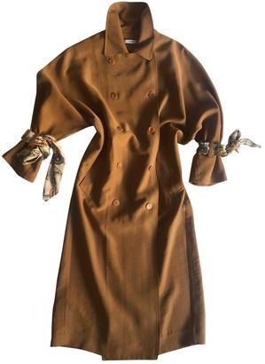 MANGO Camel Trench Coat for Women