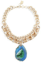 BCBGMAXAZRIA Agate Stone Chain Necklace