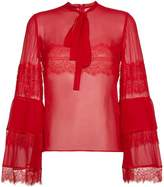 Giambattista Valli silk lace blouse