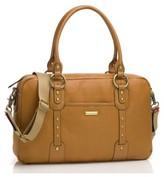 Storksak Infant Elizabeth Leather Diaper Bag - Beige