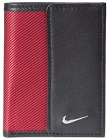 Nike Leather & Tech Twill Money Clip Card Case