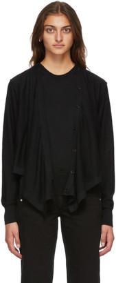 Lemaire Black Merino Cardigan Sweater