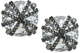 ABS by Allen Schwartz Earrings, Hematite-Tone Crystal Chain-Wrapped Stud Earrings