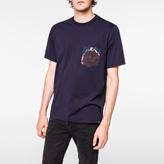 Paul Smith Men's Navy 'Rose' Print Pocket Supima-Cotton T-Shirt