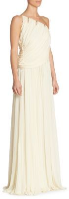 Halston One-Shoulder Gown