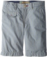 Willits Rose Pistol Checked Shorts (Kid) - Ivory/Gold-8