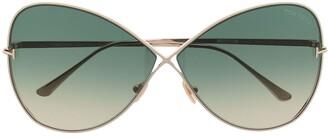 Tom Ford Oversize-Frame Gradient-Lens Sunglasses
