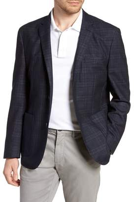 Vince Camuto Dell Aria Slim Fit Plaid Unconstructed Sport Coat