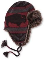Mossimo Men's Buffalo Print Fur Peruvian Trapper Red One Size