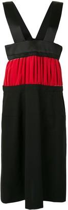 Comme des Garcons Panelled Colour-Block Midi Dress
