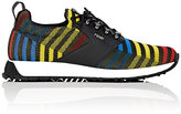 Fendi Men's Zigzag Jacquard Low-Top Sneakers-BLACK