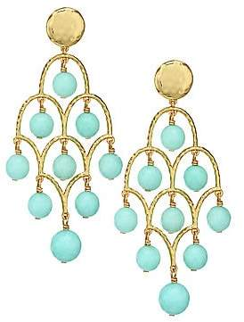 Nest Women's 22K Goldplated Amazonite Chandelier Earrings