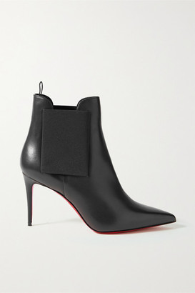 Christian Louboutin Carnababy 85 Leather Ankle Boots - Black