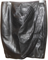 Christian Dior Mid-length leather skirt