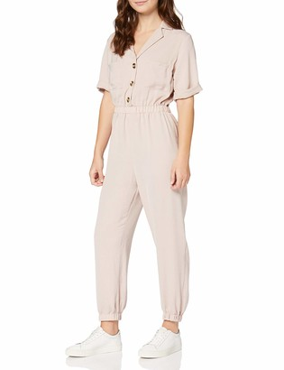 New Look Petite Women's P Utility H/Bone Cuffed JS Jumpsuit