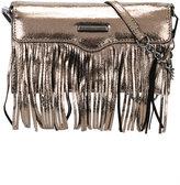 Rebecca Minkoff fringed metallic clutch - women - Leather - One Size