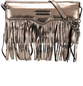 Rebecca Minkoff fringed metallic (Grey) clutch