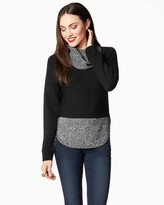 Charming charlie Sunday Cowl Neck Sweater