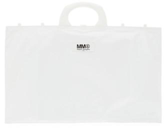 MM6 MAISON MARGIELA White Wide Rectangle Shopping Tote