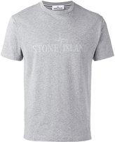 Stone Island tonal logo print T-shirt - men - Cotton - M