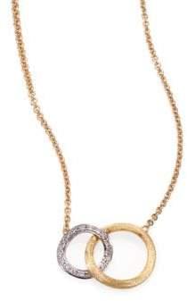 Marco Bicego Jaipur Link Diamond, 18K White& Yellow Gold Pendant Necklace