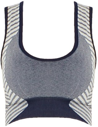 Ahmworld Conscious Yoga Bra In Heather Navy