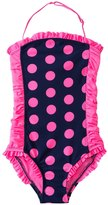 DKNY Girls' Round Up Dots Little Darling Bandeau One Piece (2T4T) - 8128971