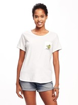 Old Navy Relaxed Pocket Graphic Tee for Women