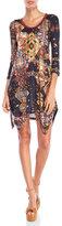 Custo Barcelona V-Neck Printed Knit Dress