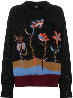 Paul Smith Woodblock Floral Knit Jumper