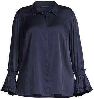 Kobi Halperin Hannah Plus Size Bell-Sleeve Blouse