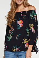 Love Stitch Lovestitch Floral Off Shoulder