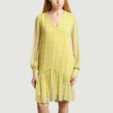 Essentiel Antwerp - Yellow Viscose Flowered Mini Dress - 34 | viscose | yellow - Yellow/Yellow