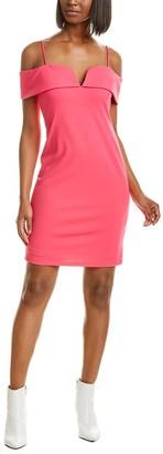 Bebe Fold-Over Mini Dress