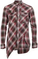 Miharayasuhiro layered plaid shirt