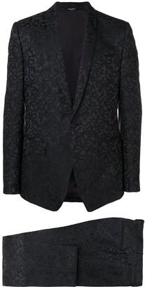 Dolce & Gabbana Floral Jacquard Two Piece Suit
